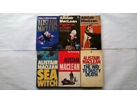 6 Alistair Maclean Books The Way To Dusty Death, Sea Witch, The Satan Bug, Caravan to Vaccares