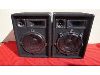 WEEKEND OFFER ONLY 2 X TWO OMNITRONIC DX-1022 3 WAY SPEAKER SYSTEM 400W EACH - 10 INCH BASS