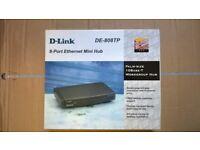 8 Port Ethernet Mini Hub