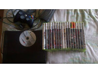 Xbox 360 elite edition with 120gb hard drive and 20 games