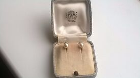 LOTUS Pearls Simulted Pearl Earings Boxed with Silver stamped -can post for extra-