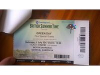 Greenday tickets, BST Hyde Park, x 2, July 1st 2017, gates open 1pm, Greenday at 10pm