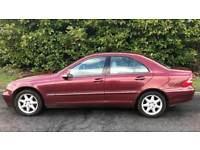 CHEAP AUTOMATIC MERCEDES C200 KOMPRESSOR 2.0L (2004) full year mot 5 door family car