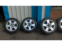 audi alloys set of 4 with ok tyres