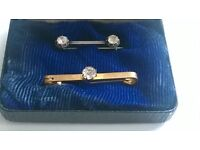A Pairs of Mens Tie Pins BOXED -can post for extra-