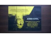 altered states ' original 1980s cinema poster