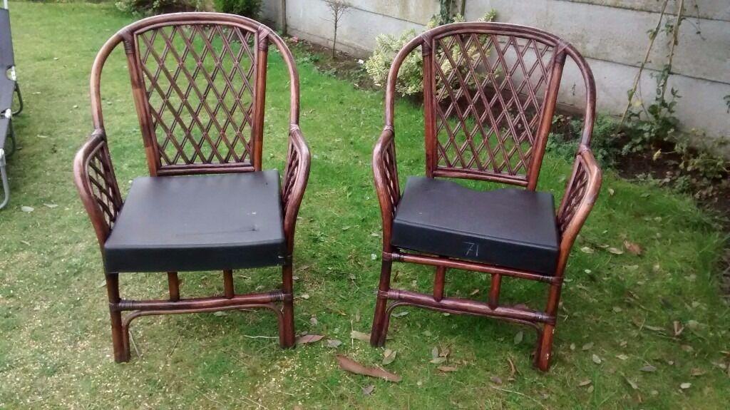 2 cane garden chairs | in Liverpool, Merseyside | Gumtree