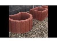 Concrete flower pots/planters