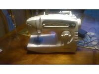 singer sewing machine bella white with cover