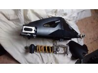 2007 Gsxr1000 swingarm & Gsxr750 shock with linkage & hugger, streetfighter, project