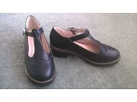Ladies DM style Mary Jane black shoes with small heel size 4/5 never worn