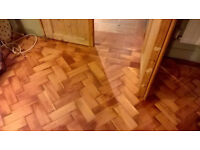 Parquet flooring blocks-old pine- should do about 100 square feet- ex Navy mess