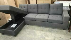 SMALL CONDO SIZE SECTIONAL SOFA WITH STORAGE CHAISE FOR 599$ ONLY