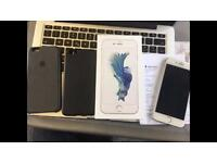 Apple iPhone 6s 128GB Silver, Apple Care+. perfect condition