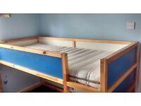 IKEA Kura reversible bed with IKEA mattress