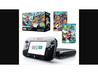 Nintendo wii u premium 32gb pack with Mario kart and splatoon