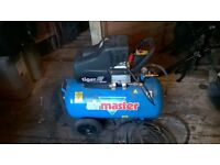 clarke airmaster tiger 11/510 turbo compressor used 3 times