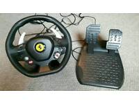 Thrustmaster xbox 360 steering wheel and pedals
