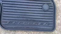 2012-2013 ford explorer front and rear floor mats rubber