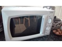 Microwave almost new condition for only £35.00, plus Grill Gorge Foreman for additional £10.00!