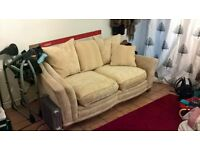 Two seater sofa Beige/yellow country style cottage