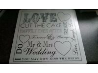 Mr and Mrs Cake Board