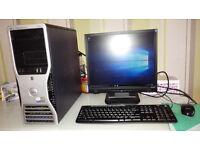 Dell Precision 390 (Dual Core 2) with 21 inch montior windows 10