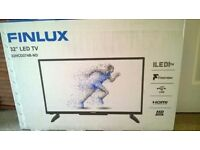 """BRAND NEW Finlux 32"""" LED HD tv with freeview"""
