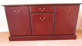 Sideboard (mahogany). Solid wood. Morris furniture (well know craftsman makers).