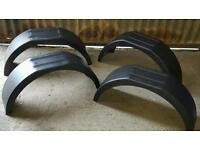 X4 New car trailer mud guards