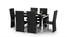 SCS Glass dining table and 6 chairs