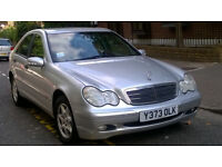 MERCEDES C180 CLASSIC 2001 Y REG MET SILVER 4 DOOR SALOON 6 SPEED MANUAL PAS A/C 111K MILES SUPERB
