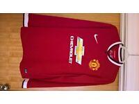 Manchester United Home shirt, 2014/15 - Longsleeve large