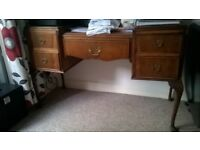 desk/dressing table, veneered, a bit wonky but attractive..