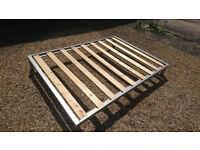 Double bed base - basic matt metal frame (optional mattress)