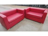 RED SOFA SITS 4 PUB/OFFICE/HOTEL/HOME (W/B)