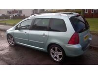 Stunning 307 sw XSI 7 Seater Estate Car Diesel 2.0