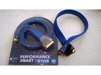 QED Premium Performance Scart Leads/ Cables Brand New (DVD or Video)