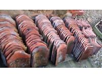 Traditional handmade clay pantile roof tiles, approximately 120