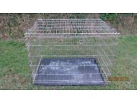 LARGE COLLAPSABLE DOG CAGE WITH TRAY