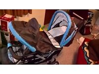 double pushchair from birth to toddlers like new used just a few times