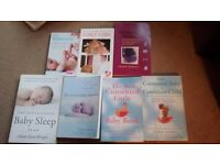 7 baby parenting and sleep books (Elizabeth Pantley, Gina Ford etc)