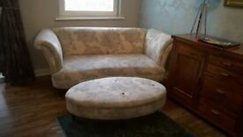 Two stunning large sofas and footstool for sale, immaculate condition and worth viewing