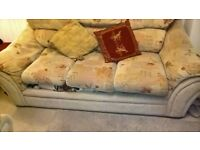Good condition 3 seater sofa and matching chair