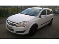 2007 VAUXHALL ASTRA 1.3 CDTI, WHITE, DIESEL ESTATE, S/HISTORY, CLEAN CAR, CHEAP TAX. TEL.07803366789