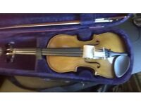 Stentor II violin along with case + essential element 2000 book + 2 tuners and shoulder rest