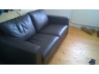 Beautiful two seat leather sofa