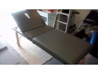 Therapy bed massage bed in grey foldable