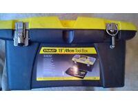 "Stanley brand 19"" tool box"