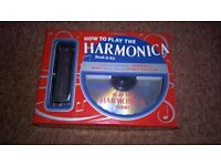 harmonica book and kit learn how to play (new)